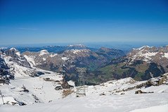 On top of Titlis (Werner_B) Tags: blue winter sky panorama mountain snow alps cold ice berg landscape schweiz switzerland europe top natur central glacier berge alpine alpen landschaft ferien   alpinism   titlis turist susten    sustenpass obwalden