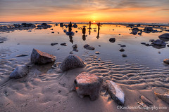 Good Harbor Bay ... sunset 4-7-13 (Ken Scott) Tags: sunset usa reflection beach spring rocks michigan lakemichigan greatlakes april cairns tidepool hdr freshwater voted leelanau pyramidpoint goodharborbay 2013 manitouislands sbdnl sleepingbeardunenationallakeshore mostbeautifulplaceinamerica rockstackings
