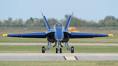 F/A-18C Hornet Blue Angels (Sonic Images) Tags: show blue field team wings marine texas air united over navy houston demonstration angels corps hornet states 2012 the ellington fa18c sequestration