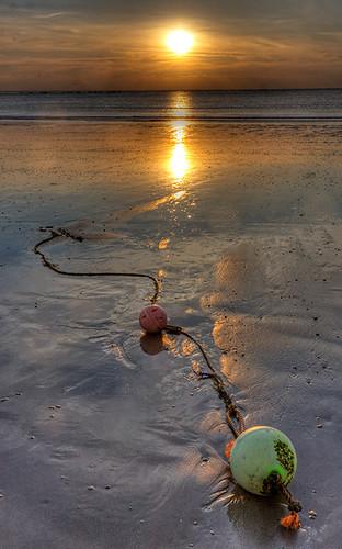Buoys on the beach