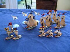 Man o War Brettonnian Fleet (Godders11) Tags: citadel corsair warhammer buccaneer galleon manowar pegusus gamesworkshop dreadfleet brettonnian