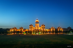 Islamia College Peshawar - Pakistan (Shahid A Khan) Tags: blue pakistan sky building college architecture education flickr forsale shot image picture ground grand pic images panoramic illuminated historic peshawar bluehour 2470f28 kpk islamia canon5dmark2 sakhan shahidakhan khyberpukhtoonkhuwa sakhanphotography