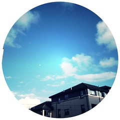 Seventy nine. Hipstasky (sarahjanequinn) Tags: blue sky clouds noflash iphone project365 wonderlens hipstamatic gs0film