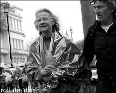 `835 (roll the dice) Tags: old uk portrait urban blackandwhite london art classic water westminster lady foil marathon candid streetphotography agony stranger virgin tired finish unknown wisdom londonmarathon unaware sw1 pensioner londonist