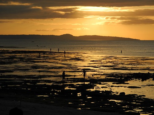 Kupang Tidal Flats at Sunset