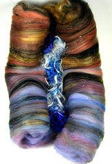 Morning's Glory Wild Card Bling Batt (yarnwench) Tags: felting spinning etsy batts yarnwench artbatt
