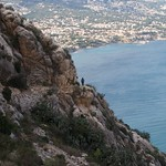 Cliff path on  Penyal d' Ifach