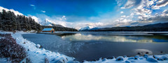 Early Winter At Maligne Lake (wrtrekker (Jerry T Patterson)) Tags: park camping autumn sunset camp horse cloud lake canada west fall sunrise canon river rockies waterfall buffalo nikon cowboy kayak jasper tour photoshoot pyramid hiking wildlife parks grand moose hike jackson canoe trail louise alberta parkway bow western patterson 5d banff wyoming elk rv teton lakelouise bison wildflower moraine jacksonhole maligne malignelake d800 icefield wrangler morainelake bowlake trailhead pyramidlake phototour joalhi 5dm3 5dmiii d800e