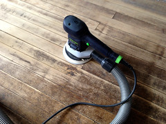 the little sander (elizajanecurtis) Tags: home kitchen renovation refinishing homeimprovement woodfloor sander limington kitchenfloor