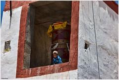 Older than my years... (ZeePack) Tags: boy child frame buddhist prayerwheel ladakh looking height canon 5dmarkii lookingdown karzok milestoneenterprisein milestoneenterprise