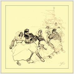 1900 August Dance Illustration by Andr Castaigne  'The Breton Gavot' (carlylehold) Tags: opportunity history robert st mobile louis dance dancing dancer email here smartphone join stories tmobile andr happens signup haefner castaigne solavei haefnerwirelessgmailcom
