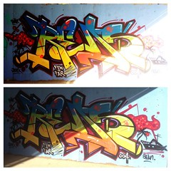 Scrap can KILLAH!! (missREDS_AM7) Tags: sunset graffiti spraypaint graff reds 004 am7 amseven fewandfar 004connec fewfar missreds
