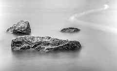 On the rocks -  EXPLORED (Raven Photography by Jenna Goodwin) Tags: blackandwhite bw white black water monochrome rock reflections rocks long exposure filter nd adjustable