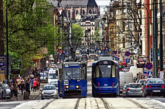 Cityscape Cracow Poland April 2013 (Smo_Q) Tags: trip tram poland polska krakow polen krakw cracow cracovia krakau tramwaj        pentax k5 polonia