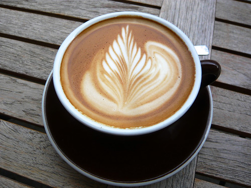 Flat white at No Fire, No Glory by WordRidden, on Flickr