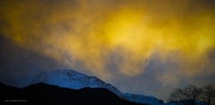 Pike's Peak snow at sunset (Greg Reed 54) Tags: sunset cloud mountain snow mountains clouds colorado sunsets snowing snowfall cloudscape pikespeak mountainrange