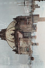 cathedrals (Mike Soukup) Tags: colour film church nikon cathedral doubleexposure catedral nikonfm10 analogue fm10 analo
