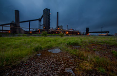 Dorman long Coke Plant (Chris Rayner Darlo) Tags: plant industry coke teesside burners tees