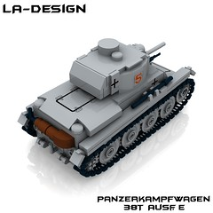 LEGO Custom WW2 German Panzer 38T 4 (LA-Design2012) Tags: tank lego wwii german ww2 instructions pdf custom xml panzer moc bauanleitung pzkpfw 38t panzerkampfwagen ladesign custombricks