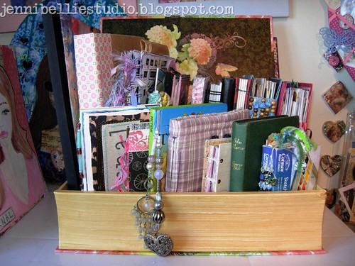 my book box of art journals