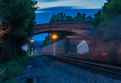 i1T at Port Royal (Troy A. Snead) Tags: slowshutterspeed nspi nspittsburghline prr prrsignals portroyalpa bridges signals