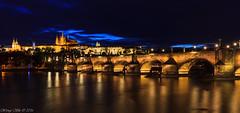 Charles Bridge at night, Prague, Czech Republic (wengeshi) Tags: prague night charles bridge river castle europe travel tourist city cityscape
