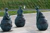Three Weebles (Lluniau Clog) Tags: conversationpiece weebles theweebles southshields juanmunoz sculpture statues publicart tyneside
