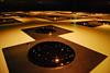 Square by Liu Jianhua (imajane) Tags: dsc7855transfer squarebyliujianhua liujianhua dowse gallery lowerhutt art gold light round square reflections