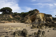 IMG_1051 (thomasshaw1709) Tags: portugal albufeira sea rocky abstract slow shutter ocean beach sand people canon