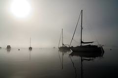Sail away (Fife Walking (Susan B)) Tags: balmaha lochlomond scotland autumn mist boat loch