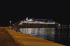Day 1. Thomson Dream in Corfu Town (steven.kemp) Tags: adriatic explorer cruise thomson dream koper slovenia ship boat port night light quay