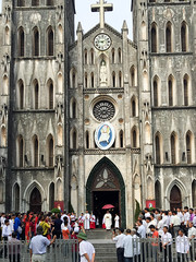 Ha Noi, Vietnam (Quench Your Eyes) Tags: catholiccathedral hanoi honkim neogothic quanhoankiem southeastasian stjosephcathedral vietnam vietnamese asia biketour capitalofvietnam church southeastasia travel