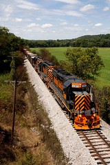 W&LE 6389 Route 164 Overpass 768 8/24/16 (Poker2662) Tags: wle 6389 route 164 overpass 768 82416