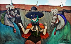 """""""Gypsy with Stallions"""" (Robert S. Photography) Tags: art street wall mural coneyartwalls coneyisland gypsy stallions nyc brooklyn nikon coolpix l340 iso80 color september 2016"""
