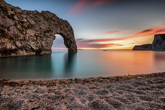 Another Durdle Door (JSP92) Tags: westlulworth england unitedkingdom gb durdle door sunset golden sand beach sea beautiful dusk gold long exposure big stopper lee filters nikon
