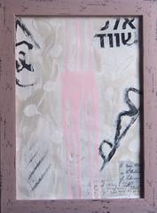 #1398 (sariart2) Tags: original ooak acrylic painting pink distressed frame new abstract modern contemporary art sari noy azaria