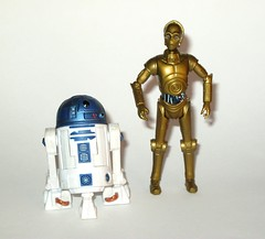 r2-d2 no. 8 and c-3PO no.16 star wars the clone wars basic action figures 2008 hasbro (tjparkside) Tags: c3po c 3po droid droids protocol translator tcw clone wars star hasbro basic action figure figures blue white packaging card 2008 series 3 number 16 no no16 glowing eyes padme amidala rebel rebels wave r2d2 8