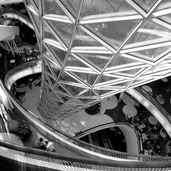 MyZeil - 3 (Genghis 72) Tags: frankfurt germany myzeil zeil architecture parametric roof organic curves floors hasselblad film acros selfdeveloped soft shadows black white