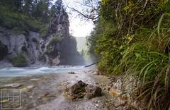 Wimbachufer (Alchemyst Photography) Tags: outdoor wasserfall landschaft wasser bach wasserlauf fluss flussbett strom pflanze baum berchtesgaden wimbach berge nebel dunst