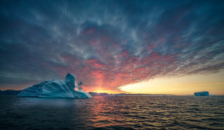 A Sunset In Greenland