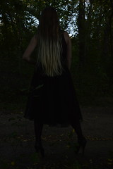DSC_0270 (saadat1917) Tags: dasha forest tights stockings high heels engels russia gothic goth girl long hair blonde 16 inches 17 platform platforms skirt sexy black dark depressive gloomy death nature satanic ritual nu tree tulle lace