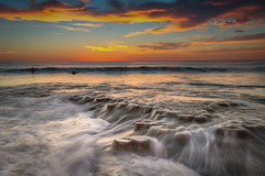 Hospitals Reef, La Jolla (KrissyM_77) Tags: sandiego ndgrad hightide lajolla california beach landscape ocean pacific sunset longexposure hospitals reef surfer water waves rocks
