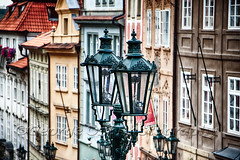 Old Gas Lamps of Prague (George Oze) Tags: castledistrict czechrepublic europeanunion prague antique architecture buildingexteriors capitalcities city closeup colorful daytime europe gaslamp highangleview historic horizontal houseexteriors landscape nobody oldtown outdoor outdoors quaint scenic streetphotography travel