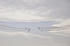 3vs3 (m_innit) Tags: athensflyingweek fly airplane spain greece athens sky trails blue flight aviation airshow