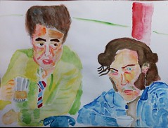 Benicio & Joaqun (Huen Fome) Tags: celebrities actors cinema joaquin phoenix benicio del toro watercolour acuarela