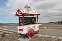 Royal Plaice (Snappy Pete) Tags: northdevon appledore torridge england uk greatbritain quay rivertorridge advertising handcart fishchips village fishingvillage