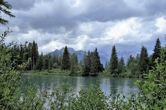 Overcast Skies (Patricia Henschen) Tags: montane forest boreal mountain mountains clouds bowriver bow river banffnationalpark alberta canada parks parcs nationalpark rockies canadian northern rockymountains