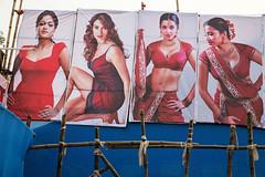 Dance show ads - Sonepur Mela, India (Maciej Dakowicz) Tags: india bihar sonepur sonpur mela women advertisement models show entertainment