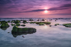 Purple sky (Pieter ( PPoot )) Tags: schoorl sunset northsea filter ndgrad double stones