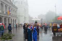 "Early Showers, Jackson Square, Fat Tuesday, New Oleans"" (alan jackman) Tags: people mist church wet rain misty fog buildings costume neworleans overcast jacksonsquare mardigras fattuesday frenchquarters neworleanslouisiana d7000 nikond7000 jackmanonjazz alanjackman"